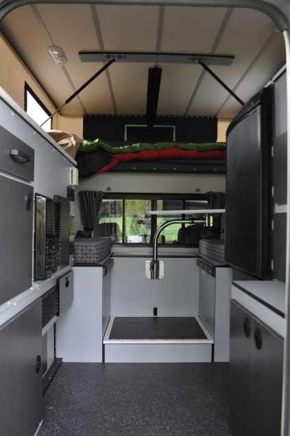 View from door showing layout with front dinette