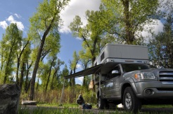 Birch Creek campground near SF Snake River, Idaho