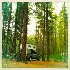 beautiful camp spot outside of Bend, OR