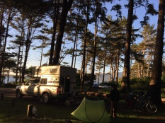 Big Lagoon campground near Agate Beach, Oregon