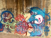 Graffiti art under the bridge.
