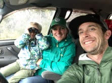 Selfies while we wait for the rain to subside at Mesa Verde.