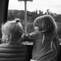 Alice and Ruby in the gondola.