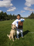 Colby and Seiji, frisbee champs!
