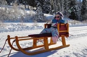 Still soaks it in at the ski hill.