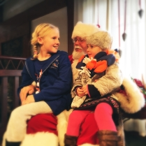 Aubrey and Alice with Santa