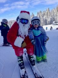 Still looking forward to seeing Santa on the ski hill. Maybe she should ask why he skis?