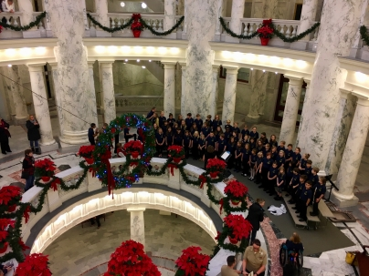 Maple Grove Singers perform at the Capital building in Boise.