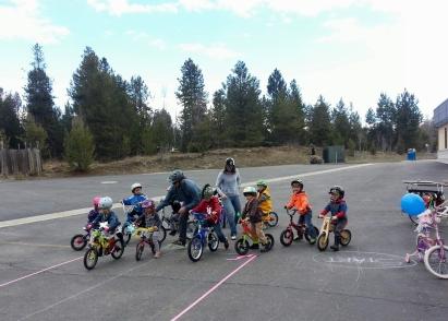 Kids and bikes galore
