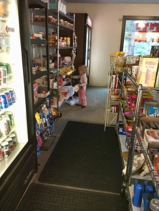 B stalks the shelves