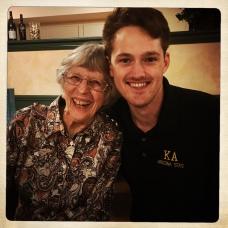 GranJan with grandson Angus